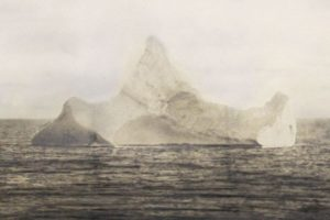 Freemason Tragedy: Photograph purporting to be of the iceberg that sank the Titanic