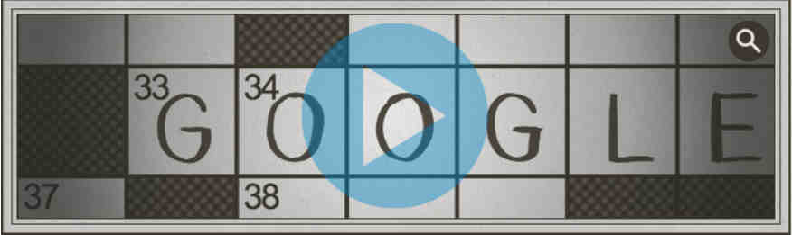 100th Anniversary of the Crossword Puzzle: Google Doodles