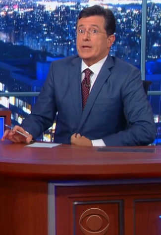 CBS Late Show with Bro. Stephen Colbert with special Freemason Guests Bro. George Clooney & Bro. Jeb! Bush (Cutsigns @ 00:57, 00:58, 01:00 etc.)