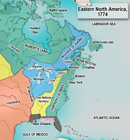 Eastern North America Map 1174