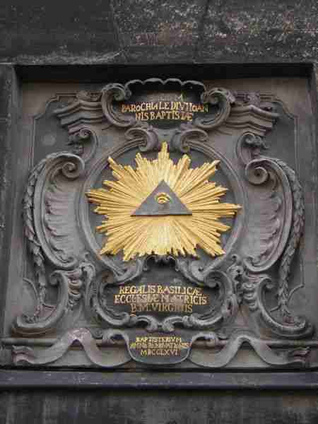 Aachen Cathedral, All Seeing Eye, Triangle, Freemasonry, Freemasons