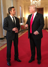 abc news, david muir, president trump, white house, masonic, freemasons, freemason, freemasonry