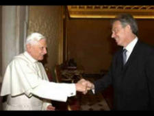 Pope Benedict, Tony Blair, Handshake, Masons, Freemasonry, Freemasons, Masonic Lodge