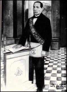 Benito Juarez, freemasons