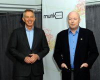 Brother Blair and Bro. Hitchens at the Munk Debate in Toronto, Ontario