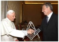 Tony Blair, Pope Benedict, Secret Masonic Handshake, Freemasons, Freemasonry, Freemason
