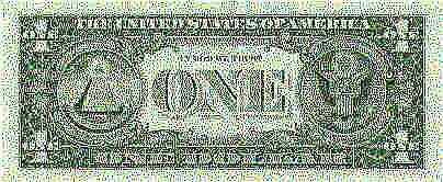 Markings on the U.S. One Dollar Bill