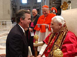 Governor of Florida Jeb Bush, Catholic Convert, meets new Pope