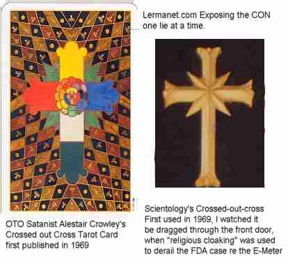 OTO and Scientology Crossed Out Cross