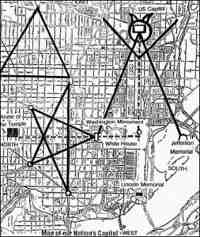Washington DC Map, Freemason Symbols, Occult, Pentagram, Freemasonry