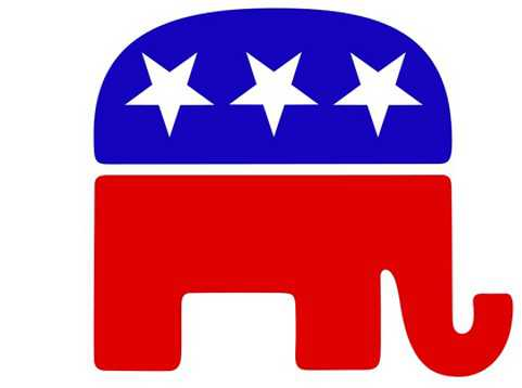 Republican Party Logo, GOP, Elephant, Inverted, Upsidedown, Star