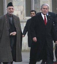 Hamid Karzai, George W. Bush, Afghanistan, President, United States, Freemason, Freemasonry, Freemasons, Masonic, Signals, Signs