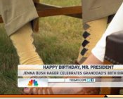 President George H.W. Bush, Socks, NBC, Jenna Bush, Masonry, Freemasonry, Freemasonry, Masonic Lodge