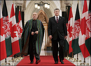 Kharzai, Harper in Ottawa, Sept. 22, 2006