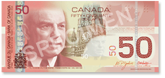 Canadian 50 Dollar Bill