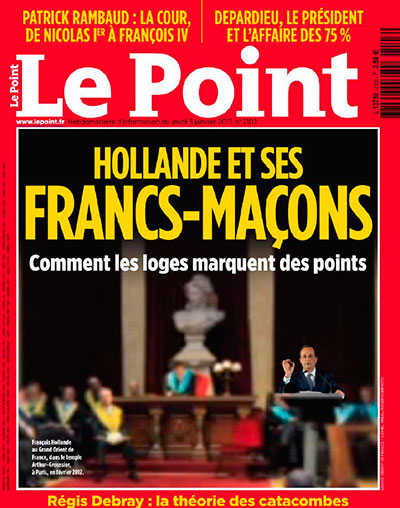Le Point, Hollande, Franc-Macons, france, socialist party, freemason