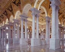 Masonic Twin Pillars Architectural Motiff, Library of Congress, Washington DC, Freemasons, freemason, Freemasonry