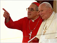 Cardinal Jean-Marie Lustiger and Pope John Paul II