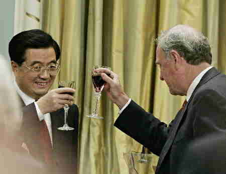 A Liberal toasts a Communist