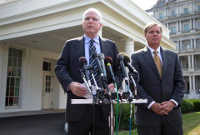 John McCain, Lindsey Graham, Old Executive Office Building, Masonic, Freemasons, Freemasonry