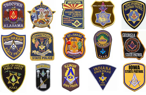 Freemasonry State Police Badges