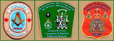 R.C.M.P. Masonic Patch