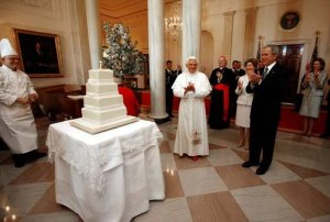 Pope Benedict birthday Whitehouse, George W. Bush, Freemasonry, Freemasons, Masonic