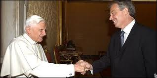 Pope Benedict, Tony Blair, Handshake, Secret, Freemasonry, Freemasons, Masonic