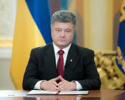 Poroshenko Address Masonic Handsignal