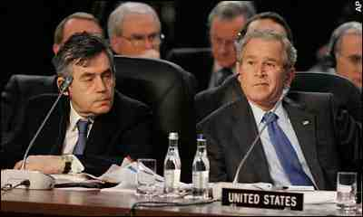 President George Bush and Gordon Brown