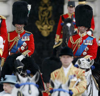 Prince Charles & Duke of Kent, Queen Trooping the Colours, Freemasonry, Freemasons, Freemason, Masonic