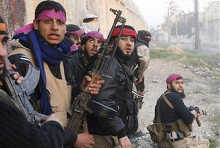Syria Rebels Purple Bandana, Tony Blair