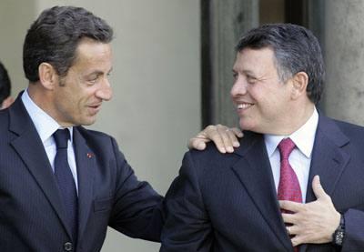 Nicholas Sarkozy France, King Hussein Jordan