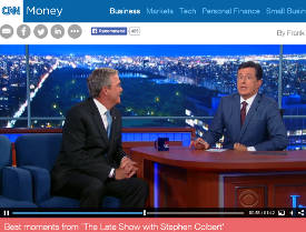Stephen Colbert, Jeb Bush, Late Show CBS, CNN Money, Masonry, Freemasonry, Freemasonry, Masonic Lodge