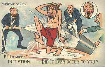 Masonic Initiation Postcard